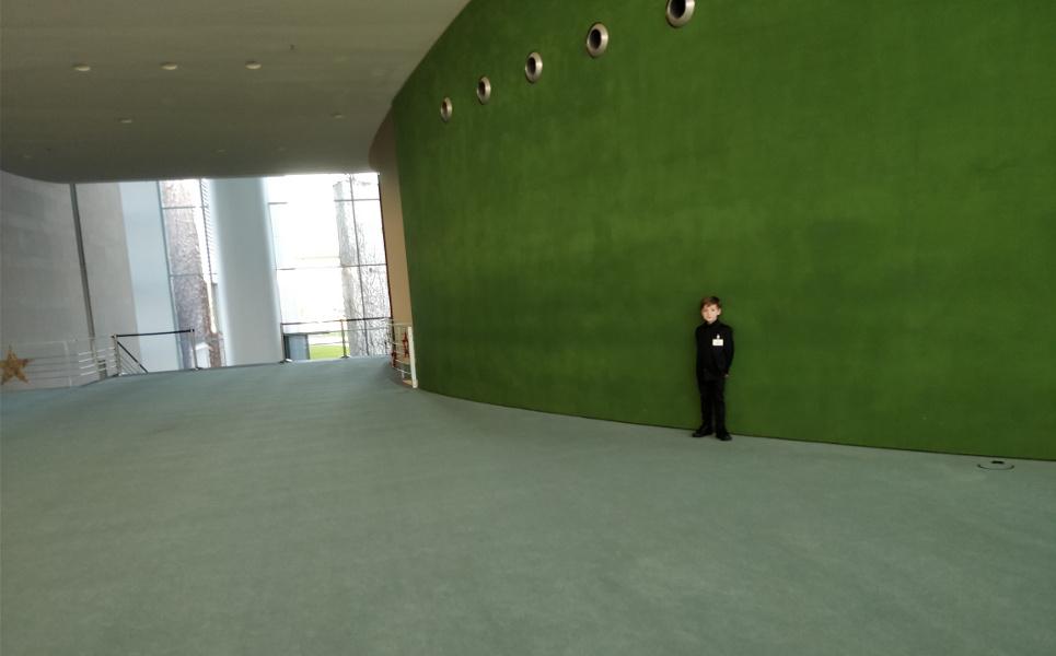 Obrovské prostory na spolkovém kancléřství